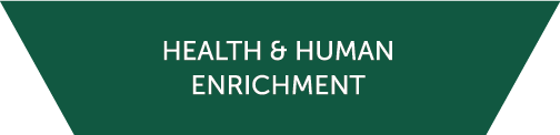 Icon for the Health and Human Enrichment cluster
